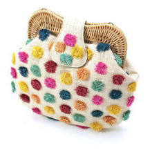 Load image into Gallery viewer, Forest Pompom Libby Shoulder Bag