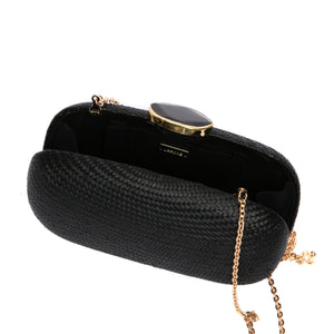 Dark Sky Oval Clutch (Vegan)