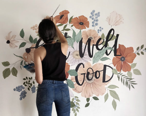 PAINTING A WALL MURAL