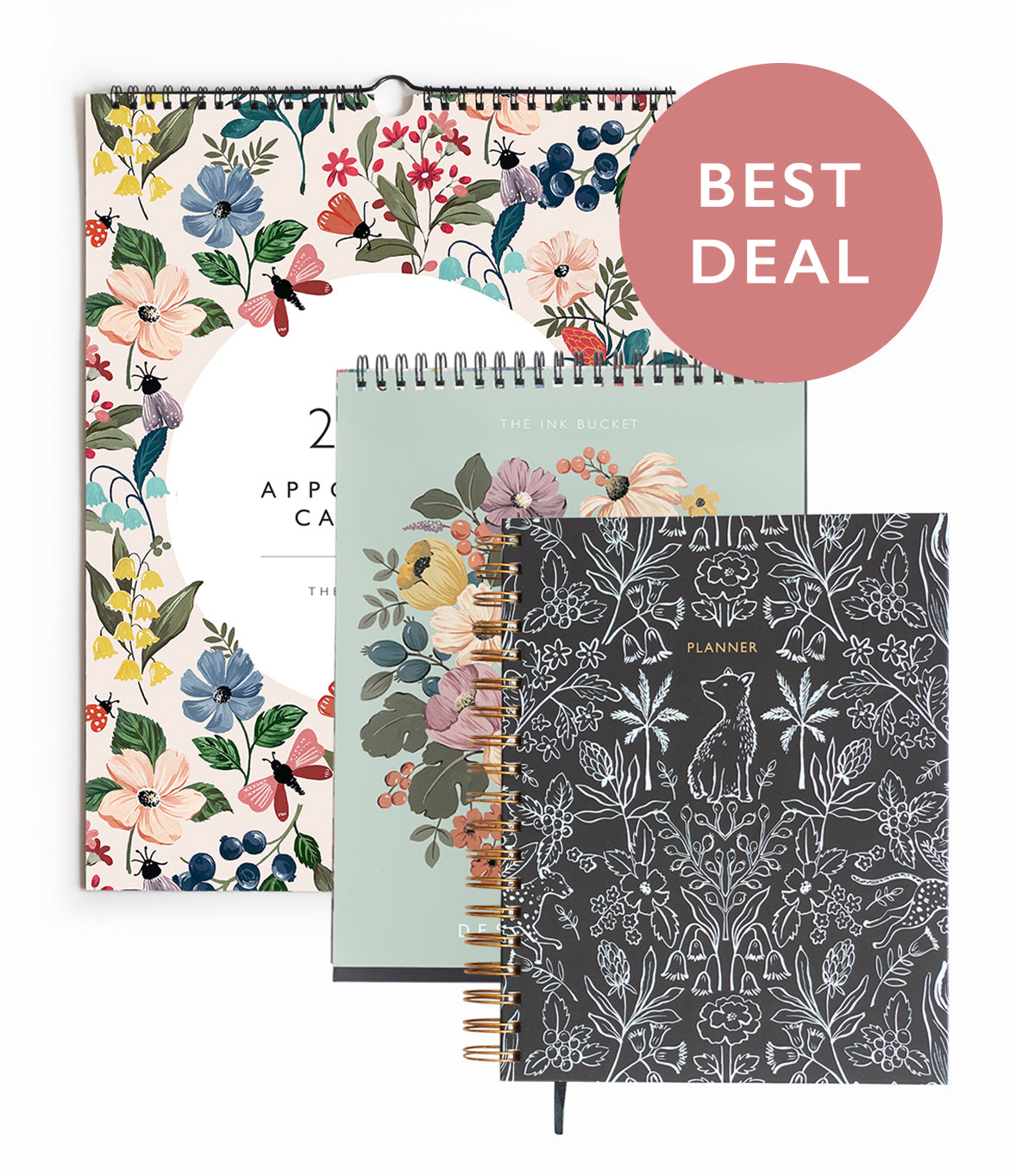 Planner & Calendar | Set of 3 | Build Your Own Set + Free Sticker Book & More