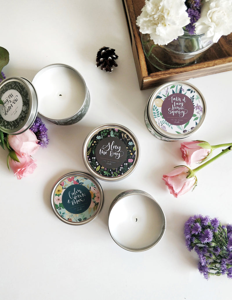 Scented Candle - Pack of 4 - TheInkBucketstore