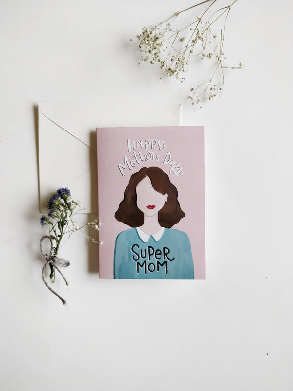 Super Mom Greeting Card