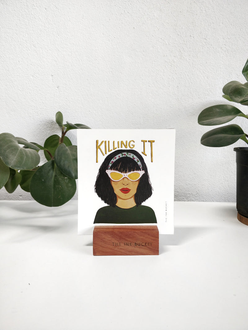 Mini Prints on a Wooden Stand - 12 Designs