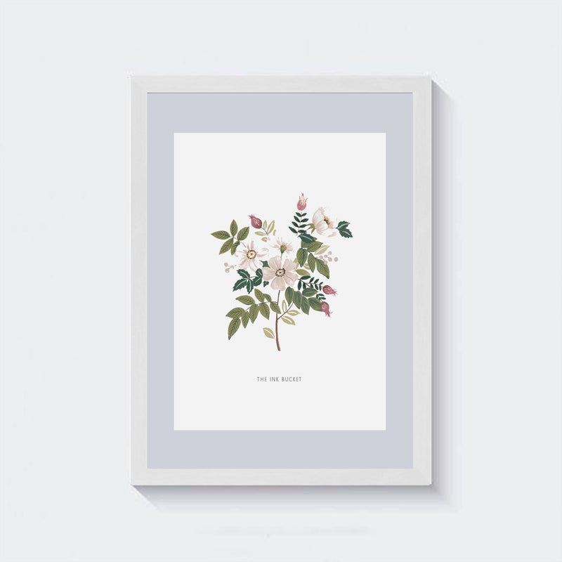 Wall Art | White Buttercups 2 - TheInkBucketstore
