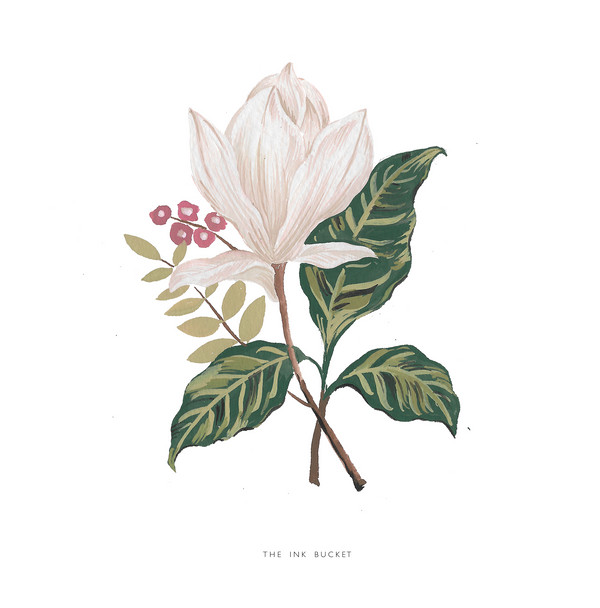 Wall Art | White Magnolia 2 - TheInkBucketstore