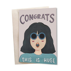 Congrats, This is HUGE | Greeting Card - TheInkBucketstore