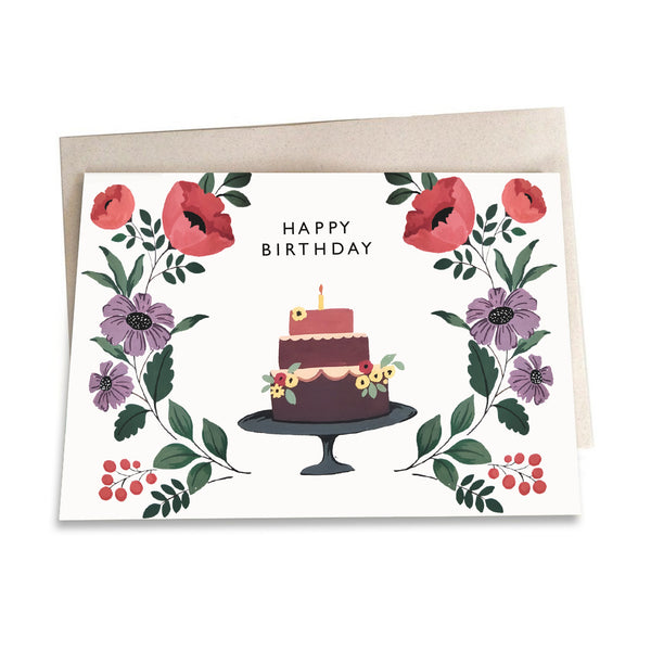 Birthday Cake | Greeting Card - TheInkBucketstore