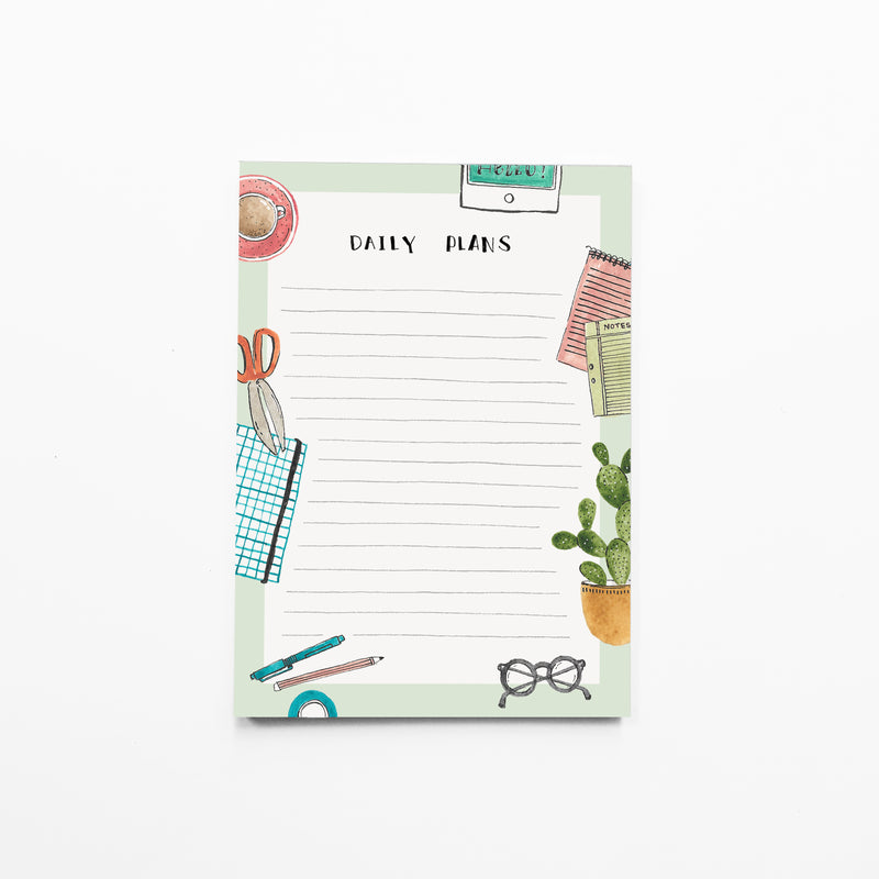 Notepad Small | Daily plans - TheInkBucketstore