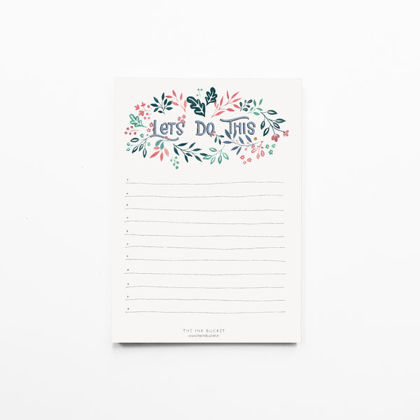 Notepad Small | Lets do this - TheInkBucketstore