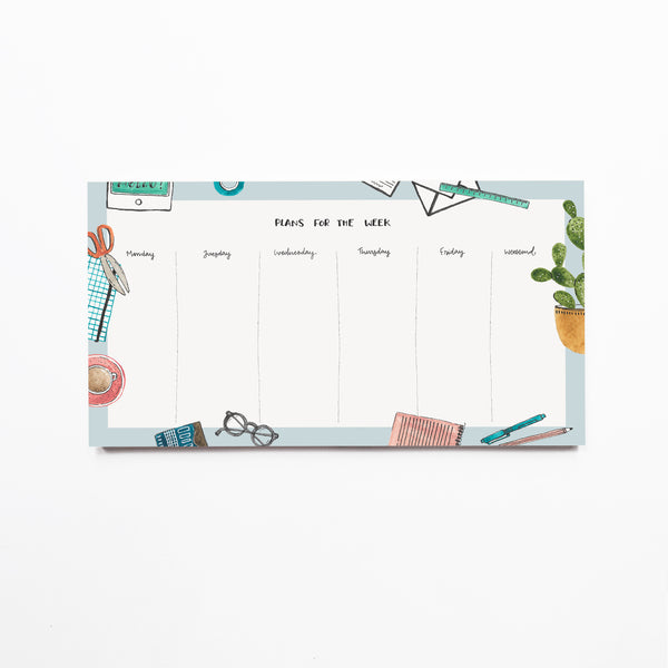 Weekly Notepad | Daily Plans - TheInkBucketstore