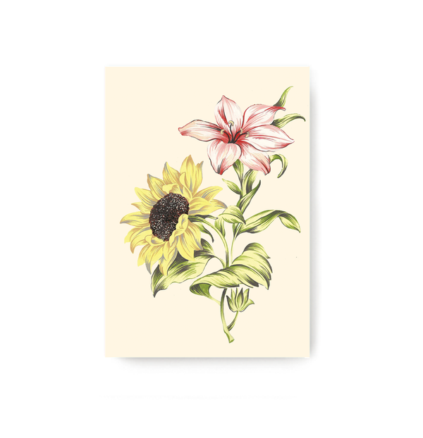 Sunflower And Lily Notebook - TheInkBucketstore