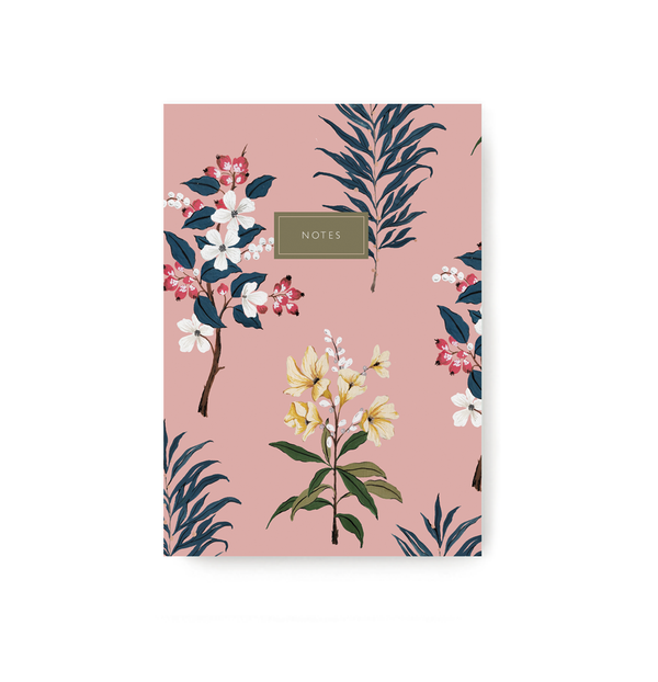 Pink Floral Notebook - TheInkBucketstore