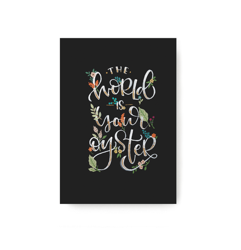 World Is Your Oyster Notebook - TheInkBucketstore