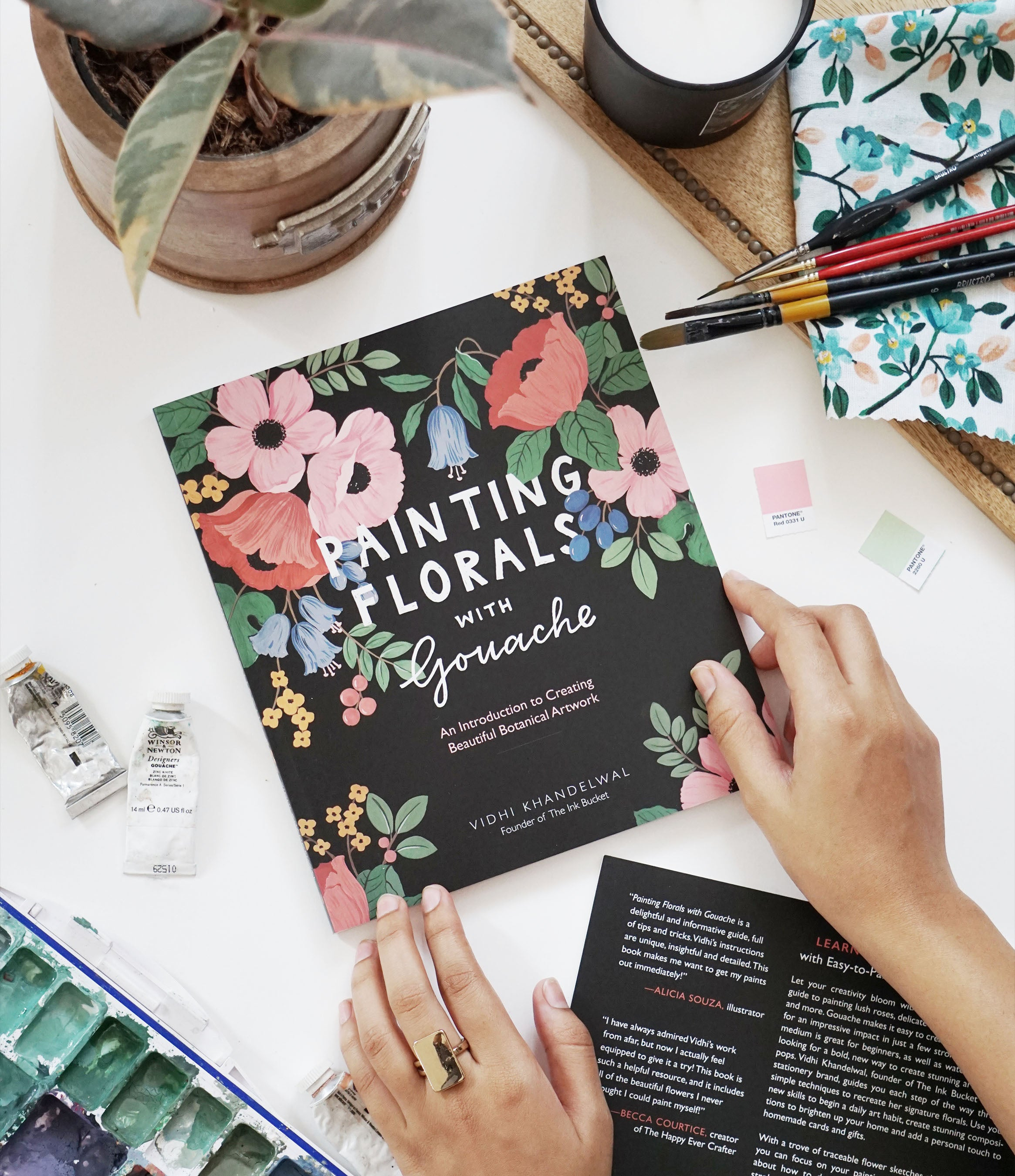 Painting Florals with Gouache (Paperback)