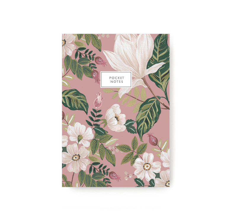 Pink Flower Bunch Pocket Notebook - TheInkBucketstore