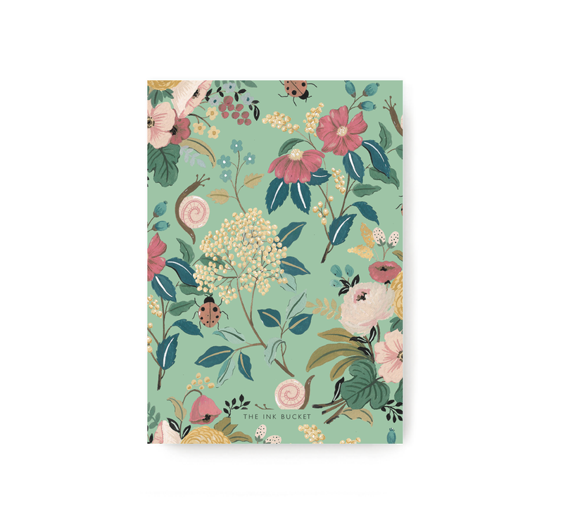 Green Garden Pocket Notebook - TheInkBucketstore