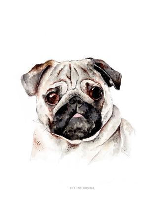 Pug Decal - TheInkBucketstore