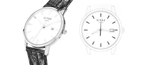 Sketch of Vitae London watch