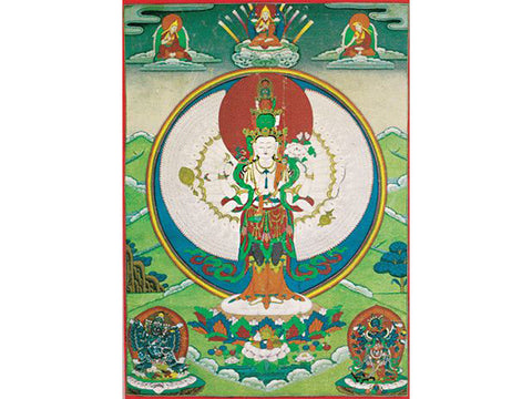 1000 Armed Avalokiteshvara Folding Thangka