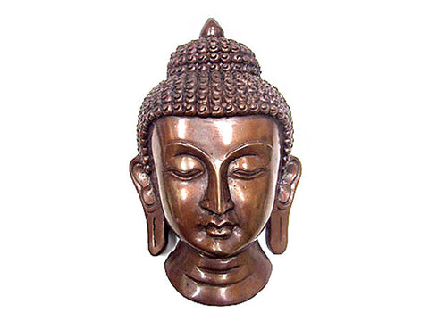 Copper Buddha Mask