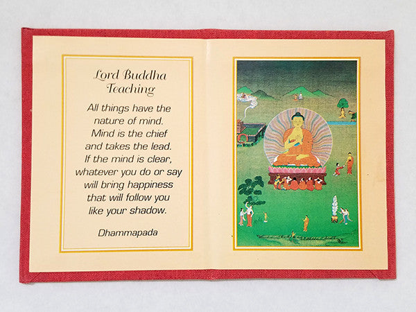 Lord Buddha Folding Thangka