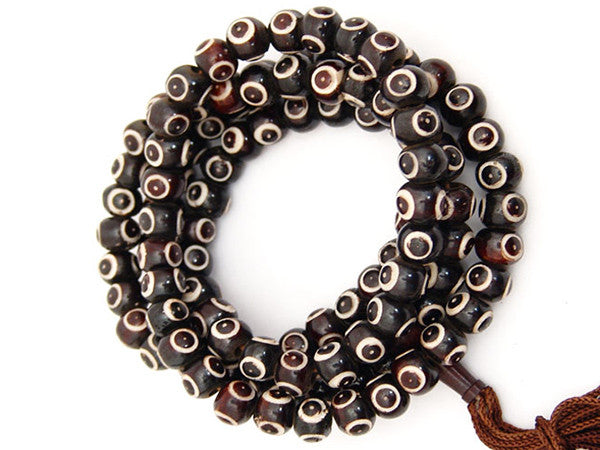 Black 3rd Eye Prayer Beads Mala