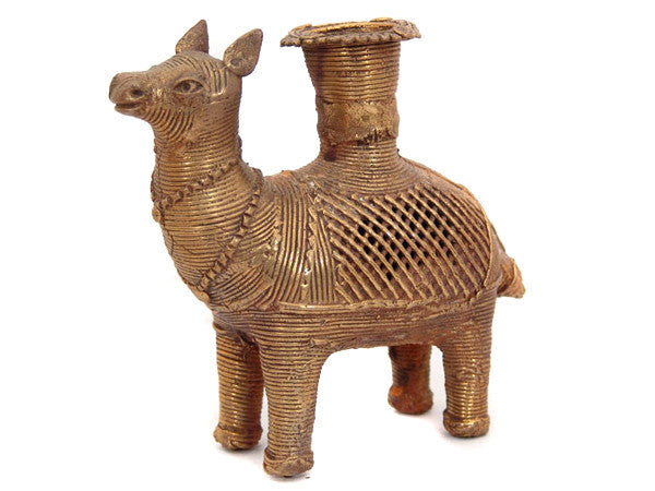 Camel Brass Candle Holder
