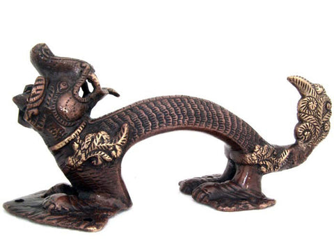 Tibetan Dragon Bronze Decorative Door Handle