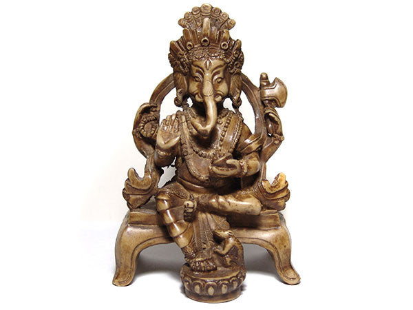 Ganesh on Throne Statue
