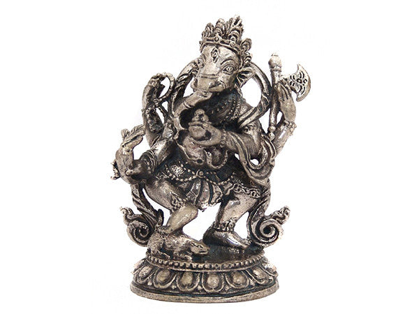 Ganesh Stepping on Rat Statue