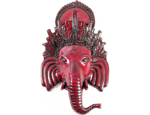 Red Ganesh Mask