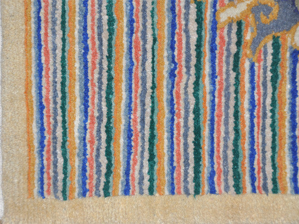 Blue Striped Meditation Rug