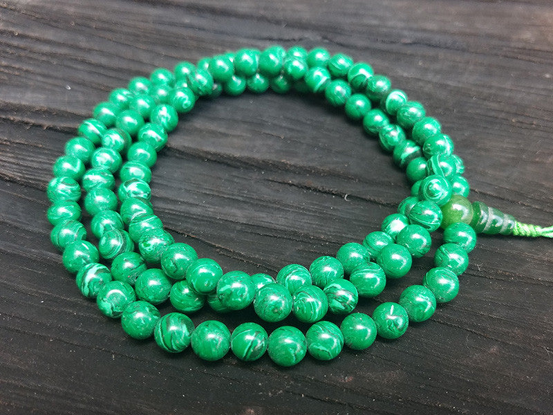 Malachite Prayer Beads Mala
