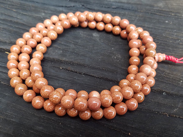 Gold Sandstone Prayer Beads Mala