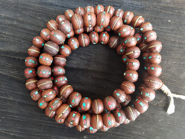 Inlaid Bodhi Seed Prayer Beads Mala