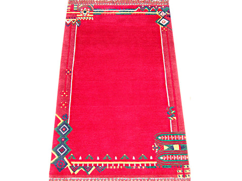 Amazing Red Tibetan Area Rug 3'X5'