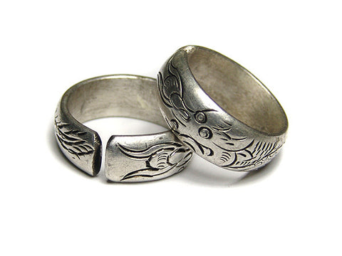 Dragon Tibetan Silver Ring