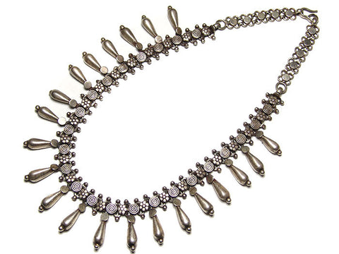 Vintage Silver Spiral Necklace