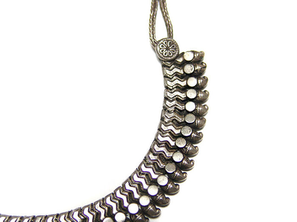 Rajasthani Indian Tribal Silver Necklace