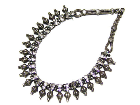 Indian Silver Rajasthani Choker Necklace