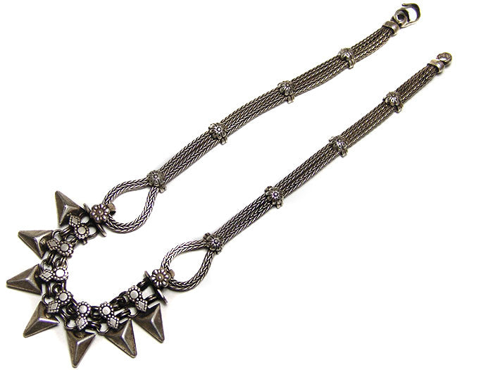 Rajasthani Silver Horn Necklace