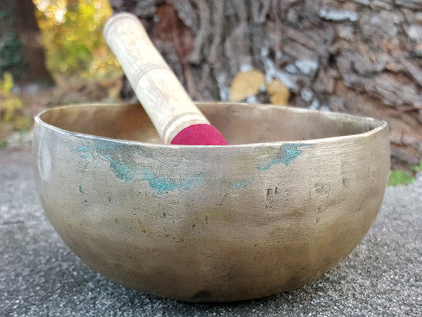 D Sacral Chakra Old Tibetan Singing Bowl 5.5""