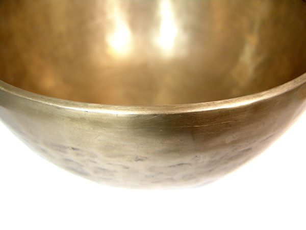 G Throat Chakra Old Tibetan Singing Bowl 11""