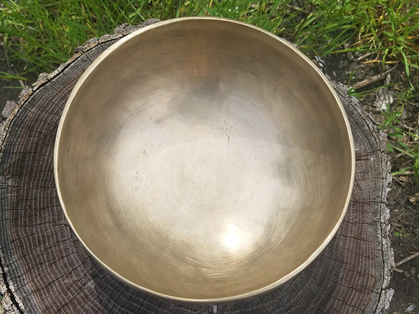 G Throat Chakra Old Tibetan Singing Bowl 7.25""