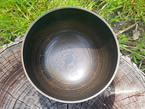 C Root Chakra Dorje Tibetan Singing Bowl 5""