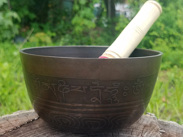 Buddha Eyes G Throat Chakra Singing Bowl