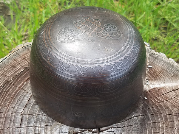 Buddha Eyes G Throat Chakra Singing Bowl 5.75""