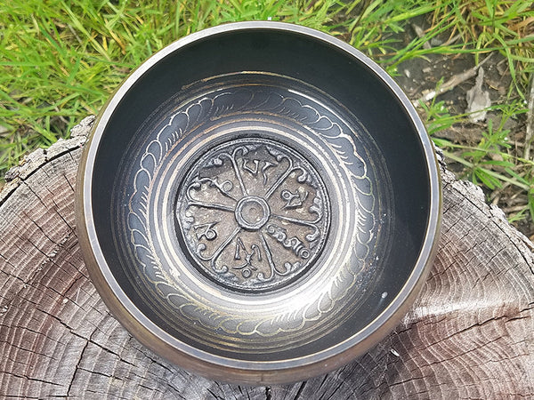 C Root Chakra Om Mani Tibetan Singing Bowl 5.5""
