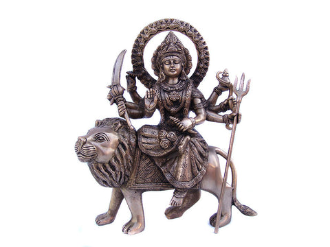 Durga On Lion Statue