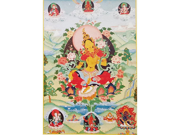 Tara Bestower of Blessings Folding Thangka